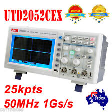 "UNI-T OSCILLOSCOPE 50MHz 2Ch 1GS/s 7"" Large Scren UTD2052CEX 1 year WRT Meter"