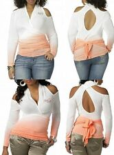 NWT Apple Bottoms MAYA Wrap CUT OUT TOP open  Light sweater  Top PLUS SIZE 2X