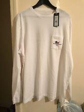 Vineyard Vines Texas Whale Icon Long Sleeve T Shirt White Adult XL NWT $48