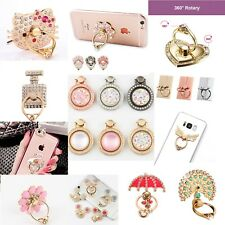 360 Rotatable Girls Womens Assorted Phone Ring Holder Stand Gift For All Phones