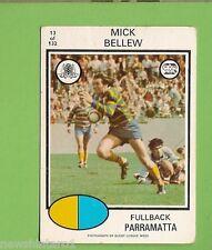 1975  PARRAMATTA EELS  SCANLENS  RUGBY LEAGUE CARD #13  MICK BELLEW