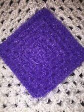 Violet Fuzzy CROCHET MINIATURE DOLLHOUSE BLANKET or Rug