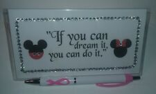 Mickey & Minnie Checkbook Cover with Free Awareness Pen