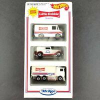 Hot Wheels McKee Little Debbie Snacks 3 Pack Special Edition Die Cast Cars 1/64