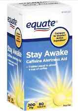 Equate Stay Awake Caffeine Alertness Aid 200 mg 80 Ct Tablets