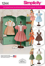 "SIMPLICITY VINTAGE 18"" DOLL CLOTHES 1244 SEWING PATTERN"