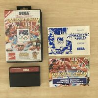 Sega Master System Olympic Gold Barcelona 92' Game VGC + Box & Manual