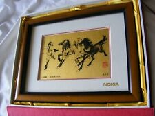 XU BEIHONG 1939 SIX HORSES PURE GOLD LEAF CRAFT PAINTING NOKIA PRESENTATION