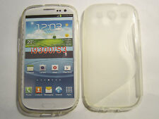 """Clear Transparent S Type """"S"""" Samsung Galaxy S3 SIII i9300 TPU Plastic Case"""
