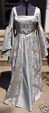 Golden Tan & Blue Renaissace Gown with Split Draped Sleeves approx size 20  FS07