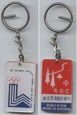 Orig.Schlüsselanhänger  Olympische W.Spiele LAKE PLACID 1980 - Teilnehmer TAIWAN
