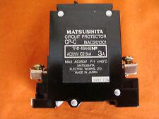 New Old Stock Matsushita Circuit Breaker 3A Bac201301