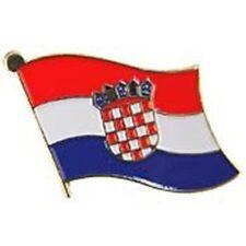 Wholesale Pack of 6 Croatia Country Flag Bike Hat Cap lapel Pin