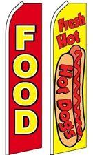 Food Restaurant Swooper Flutter Feather Flags 2 Pack-Food-Hot Dog