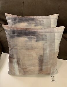 2pc Set Abstract Beige/Gray Throw Pillows New Couch Pillow Decor Set