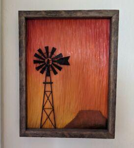 Prairie Wind Users 2 Art Wood 3D Carving Barn Wood Frame Painting Mark Boxrud?