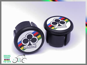 Colnago Club black Plugs end Caps Tapones bouchons lenker vintage style New