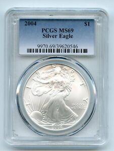 2004 $1 American Silver Eagle Dollar 1oz PCGS MS69