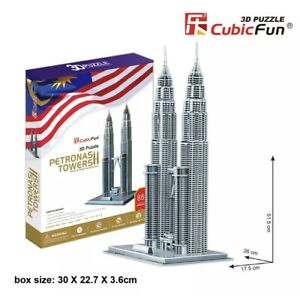 New Petronas Towers KL Malaysia 3D Paper Toy Jigsaw Puzzle 86 Pieces MC084H