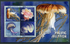 Tuvalu 2017 MNH Pacific Jellyfish 4v M/S Jelly Blubber Sea Nettle Marine Stamps