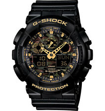 Casio G-Shock Analogue/Digital Mens Camouflage Black/Gold Watch GA-100CF-1A9DR