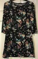 Atmosphere Black print shift dress Size 10