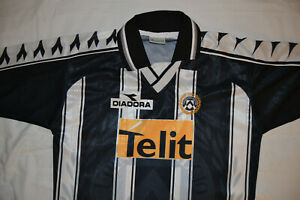 DIADORA UDINESE HOME FOOTBALL SHIRT JERSEY SOCCER  VINTAGE 1999 SIZE L NEW