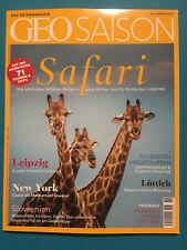 Geo Saison November 2017 Safari Das Reisemagazin ungelesen 1A abs.TOP