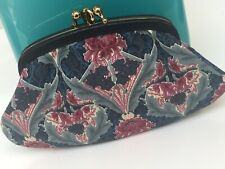Liberty Of London Fabric Leather & Brass Framed 2 Section Coin Purse