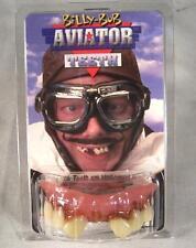AVIATOR TEETH WITH CAVITY fake goofy joke bad false hill  billy bob costume NEW