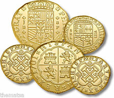 PIRATES OF THE CARRIBEAN DISNEY 5 DOUBLOON COIN SET MADE IN USA