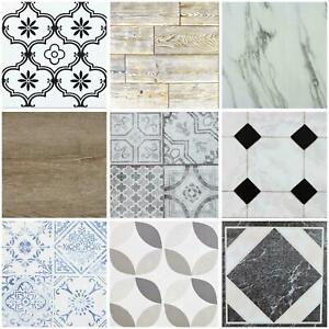 Floor Tiles Self Adhesive Marble Moroccan Vinyl Flooring Kitchen Bathroom 1m²