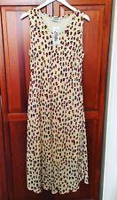 Stunning CLOTHES CONTACT Leopard Print Sleeveless Bias Cut Long Maxi Dress - XL