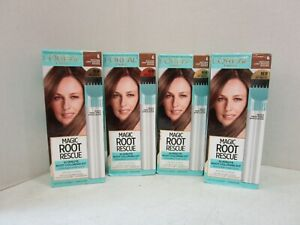 4 L'OREAL ROOT RESCUE - LIGHT BROWN #6 - PERMANENT MM 21055