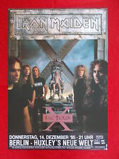 +++ 1995 IRON MAIDEN Concert Poster 14.12.1995 Berlin Germany 1st print