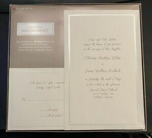 Wedding Invitation Kit 50 Invites 50 Response Cards w/ Envelopes Classic Target