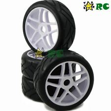 4pc RC 1/8 Tires Tyres & Hex 17mm Wheels Rims For RC 1/8 HPI On-Road Car