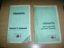 1978 CHEVROLET CHEVETTE OWNERS MANUAL