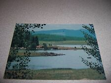 1970s LODGE? & PHILLIPS 76 GAS STATION BIG LAKE ARIZONA AZ. VTG POSTCARD