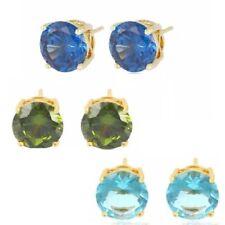 Orecchini di bigiotteria bottoni d'oro in cristallo