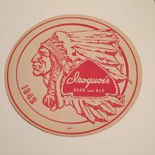 Unused 1950s Iroquois International Ale Buffalo 7oz Label Tavern Trove New York