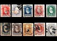 Emperor Dom Pedro II Brazil 1878 Michel 38- 47 RHM 37 - 46 Usad