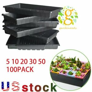 """10""""x 20.75""""Plant Growing Trays Perfect Garden Seed Starter for Seedlings soil US"""