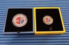 2X 2018 Singapore Mint Trump & Kim Summit  Commemorative Gold & Silver Medallion