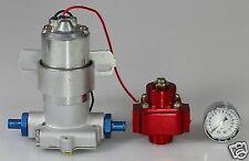 FUEL PUMP 140 GPH ELECTRIC & BILLET REGULATOR HOLLEY STYLE & CHROME GAUGE