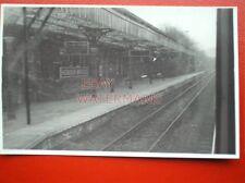 PHOTO  HEBDEN BRIDGE RAILWAY STATION EASTBOUND PLATFORM 9/3/85 VIEW FROM CAB