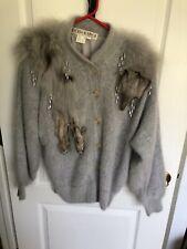 Golden River Women'S Gray Angora Sweater