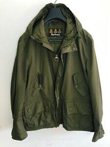 Mens Barbour Parka Coat. / Jacket Mens XL/2XL Dark Green Waterproof Mac Hooded