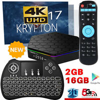 T95Z Plus S912 2GB+16GB Octa Core Android 7.1 TV Box 5Ghz WIFI+Backlit Keyboard
