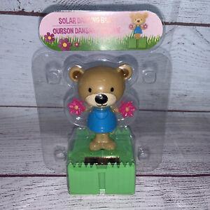 Solar Dancer Dancing Bear Toy Car Dashboard